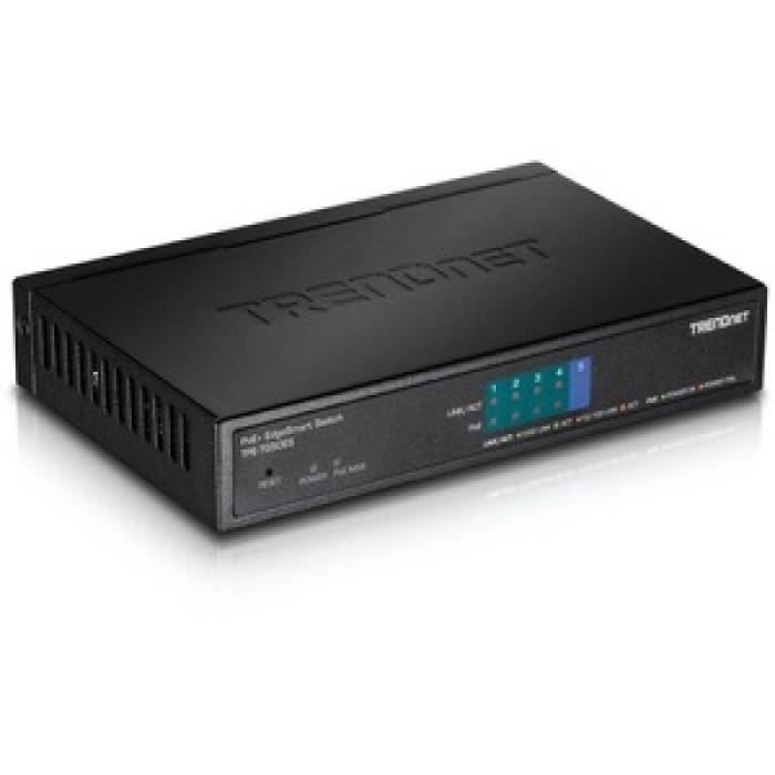 trendnet 5-port gigabit edgesmart poe+ switch (31w) noirRouteur, Wifi, Réseau 5-PORT GIGABIT EDGESMART POE+ SWITCH (31W) 150912