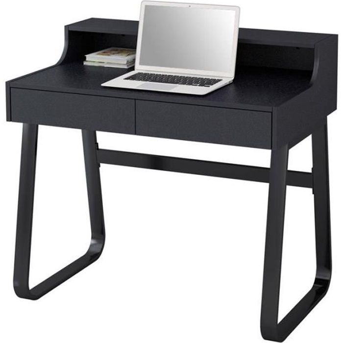 bureau informatique noir myco00424 achat vente bureau bureau informatique noir. Black Bedroom Furniture Sets. Home Design Ideas