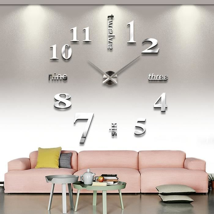 horloge murale trendy 3d moderne d coration achat. Black Bedroom Furniture Sets. Home Design Ideas