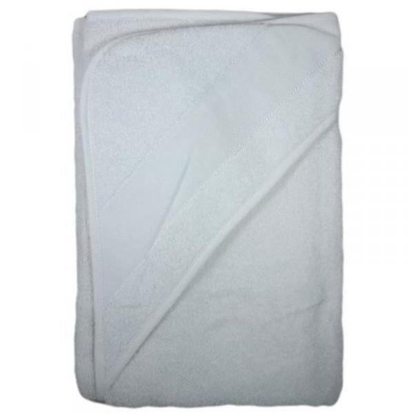 Serviette de bain b/éb/é avec capuche /à broder 75x75cm 101 Blanc