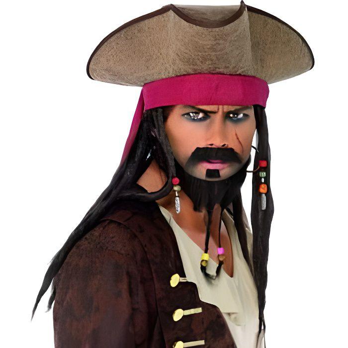 Adulte Noir Ou Marron Pirate Tricorne Chapeau Homme Femme Déguisement Caraïbes Access