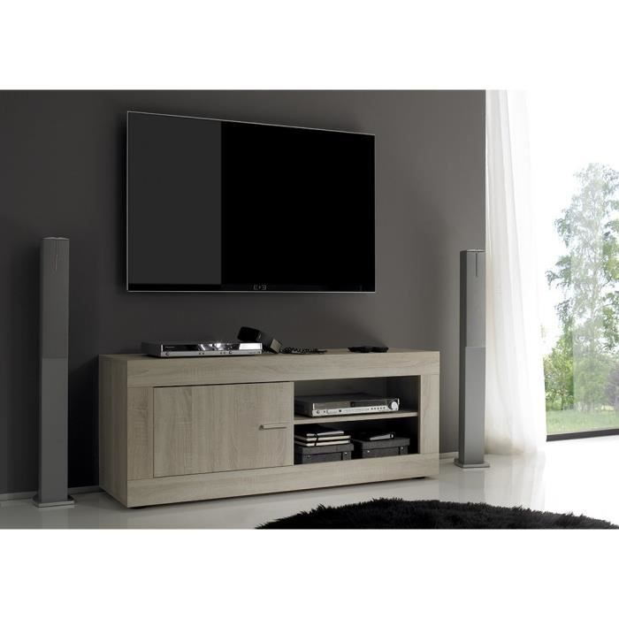 meuble tv hifi video 140 cm contemporain rome l achat. Black Bedroom Furniture Sets. Home Design Ideas