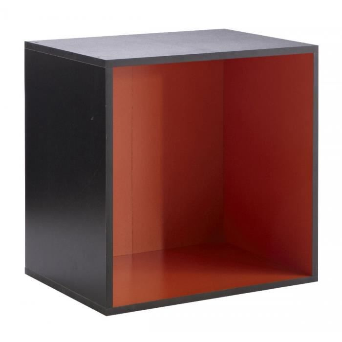 caisson 1 niche carr rainbow noir orange achat vente petit meuble rangement caisson 1 niche. Black Bedroom Furniture Sets. Home Design Ideas