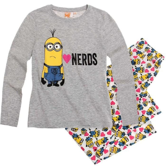 pyjama les minions 12 ans gris achat vente pyjama. Black Bedroom Furniture Sets. Home Design Ideas