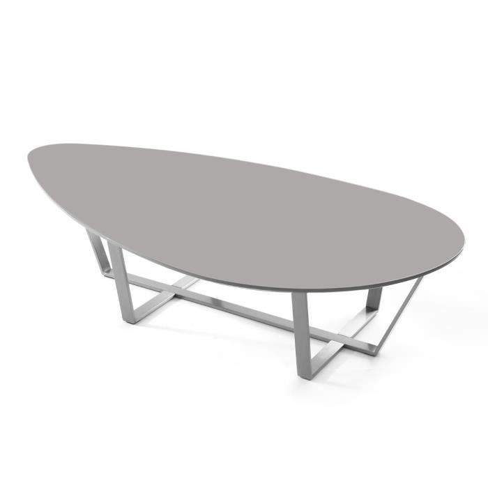 Miliboo table basse design taupe milla achat vente table basse milla table basse soldes - Soldes table basse ...
