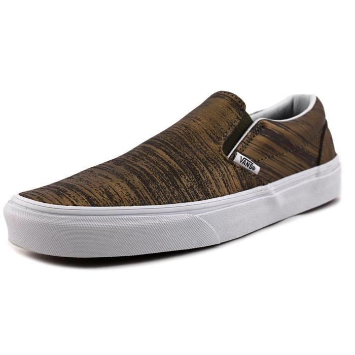 Vans Classic Slip-On Cuir Chaussure de Basket Doré - Achat ...