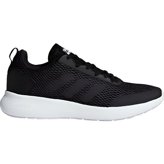 Chaussures adidas Cloudfoam Element Race noir gris foncé rose femme