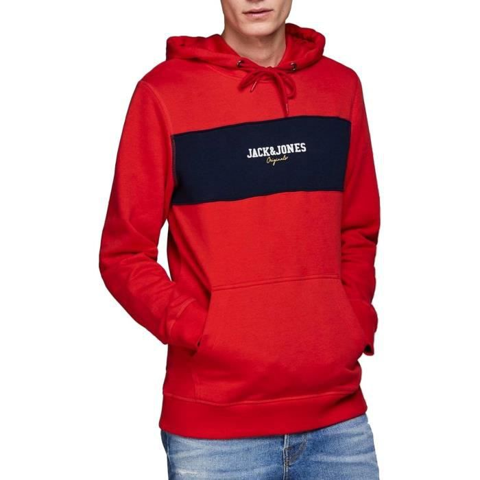 Sweat Jack and Jones Jorjosh Rouge Homme Rouge Rouge - Achat   Vente ... 6dd33c86207c