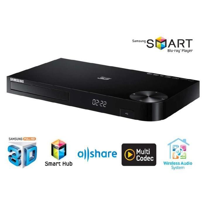 samsung bd h6500r lecteur blu ray 3d dvd smart tv wifi lecteur blu ray avis et prix pas cher. Black Bedroom Furniture Sets. Home Design Ideas