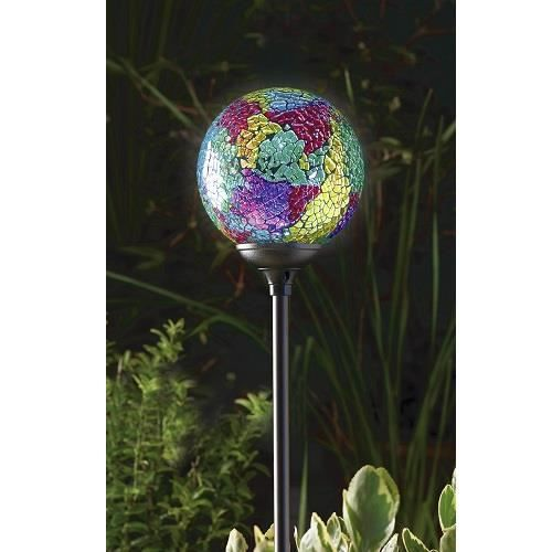 lampe solaire de jardin murano globe terra achat. Black Bedroom Furniture Sets. Home Design Ideas