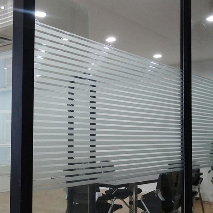 50 x 100 cm TAIPPAN Film de fen/être Autocollant de fen/être autocollant statique Autocollant de fen/être de confidentialit/é en vinyle Film de fen/être anti-UV pour salle de bain de bureau avec balcon