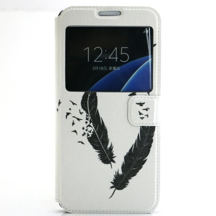 coque plume galaxy s7