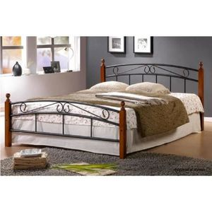lit complet adulte 200x200 avec sommier et matelas achat. Black Bedroom Furniture Sets. Home Design Ideas