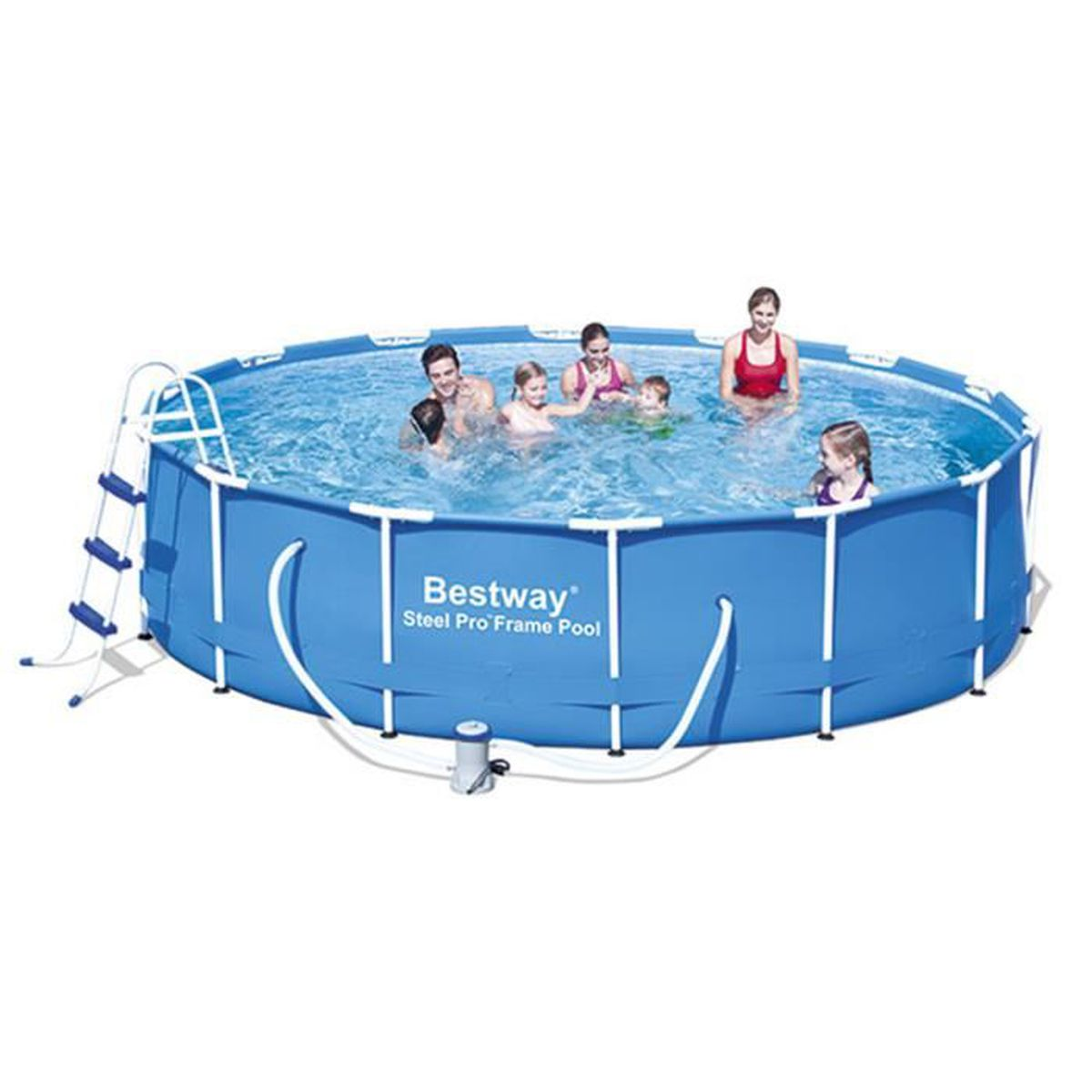 Piscine tubulaire amovible bestway steel pro 427x100 cm for Piscine tubulaire bestway