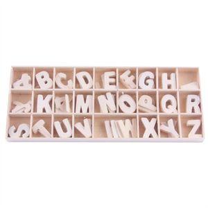 STICKERS 26 pièces bois lettres alphabets en bois lettre pi
