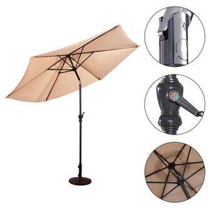 PARASOL COSTWAY Parasol de Jardin Hexogone en Fer Diamètre