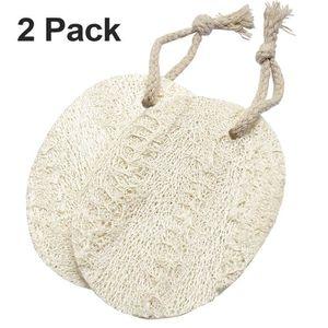 5Pcs Set Bain Douche Corps /éponge Scrubber luffa Naturel Luffa Loofa Bain Massage du Corps /éponge Scrubber Cuisine Chiffon Propre Vaisselle pour Salle de Bains Cuisine