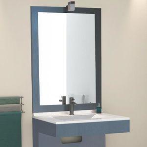 MIROIR SALLE DE BAIN Miroir avec applique OUESSANT - 80 cm Titan
