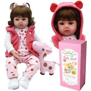 POUPÉE ZIYIUI Reborn Fille Toddler Dolls Silicone Bébé Re