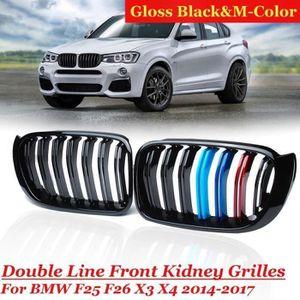 GRILL CALANDRE FRONT GRILL pour BMW f25 LCI x3 NOIR Brillant BLACK GLOSSY