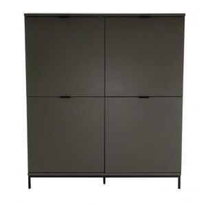meuble bahut gris achat vente meuble bahut gris pas cher cdiscount. Black Bedroom Furniture Sets. Home Design Ideas