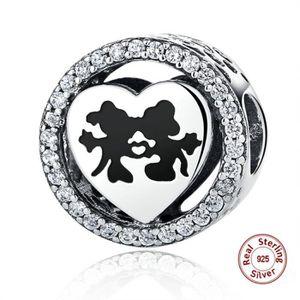 MAILLON DE BRACELET MERRILL Charms Bracelet Perle Argent 925 Minnie et