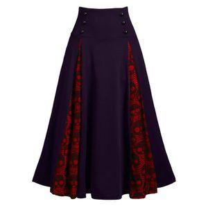 JUPE Femmes Plus Size Lace Patchwork taille haute Jupe
