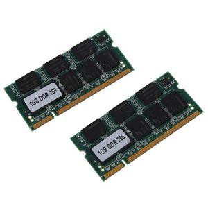 MÉMOIRE RAM 2x 1 Go 1G Memoire RAM PC2100 DDR CL2.5 DIMM 266MH