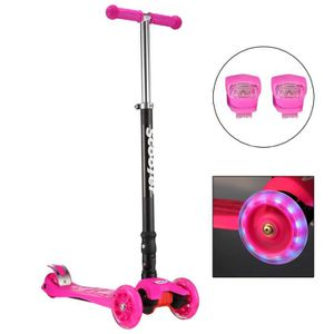 TROTTINETTE SUNGLE trottinette 3 roues rose piable , roues led