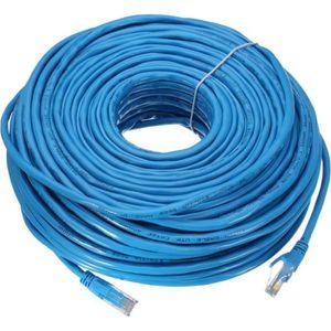 CÂBLE RÉSEAU  AVANC Câble Réseau 50M RJ45 CAT6 Ethernet Internet