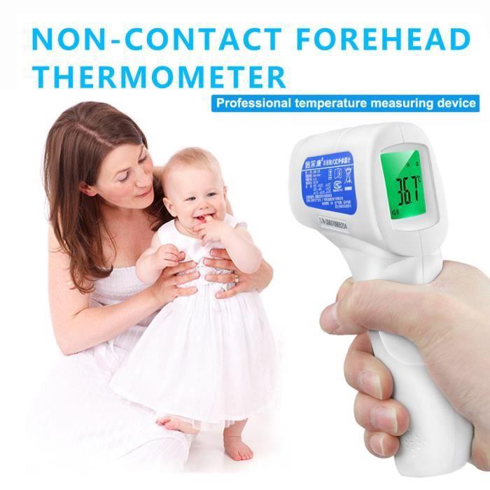 Thermomètre bébé corps médical infrarouge oreille précise front LCD LCD mesure @Yun187