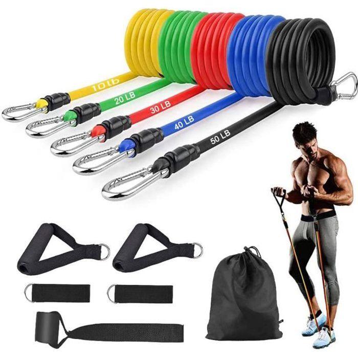 Bandes de Résistance Set, Bands de Fitness Elastique Musculation, 150LBS TPE Bandes de Exercice en Entraînement,Perdre du Poids,gym
