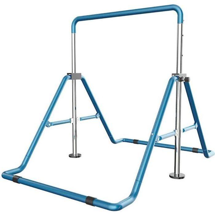 Barres horizontals de gymnastique pour enfant, barres horizontales réglable en hauteur avec capacité de 100KG