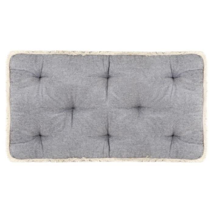 Elégant Coussin de canapé palette - Coussin extérieur Coussin de sol Grand Confort Galettes de chaise Anthracite ®EUBTIO®