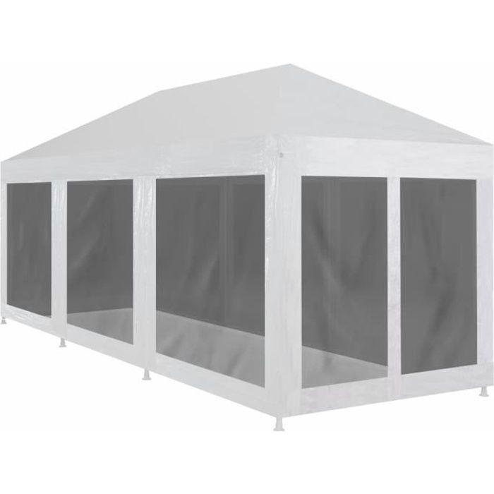 Tonnelle de Jardin Tente Réception Pavillon Barnum Chapiteau avec 8 parois en maille 9 x 3 m