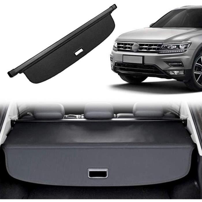 Étagère Arrière Rétractable De Coffre pour Volkswagen VW Tiguan 2009-2015 Noir Housse Colis Cargo Coque Cache-Bagages Couvert 377