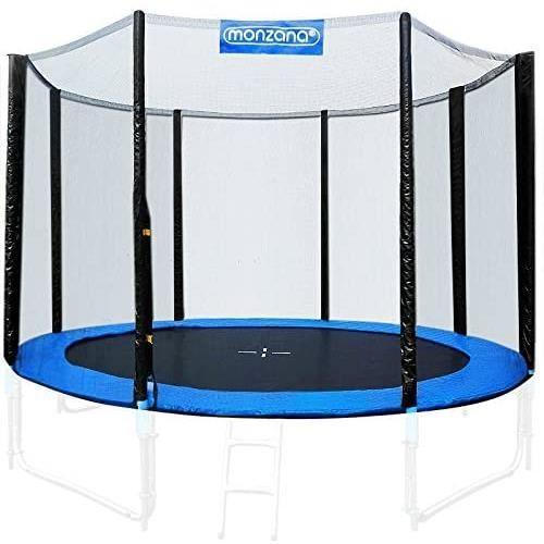 filet de sécurité pour trampoline 6 poteaux ø 426-430 cm en polyéthylène résistant aux uv aux déchirures et aux intempéries r