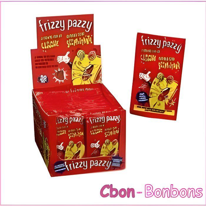 Bonbon Frizzy Pazzy Fraise boîte de 50 sachets