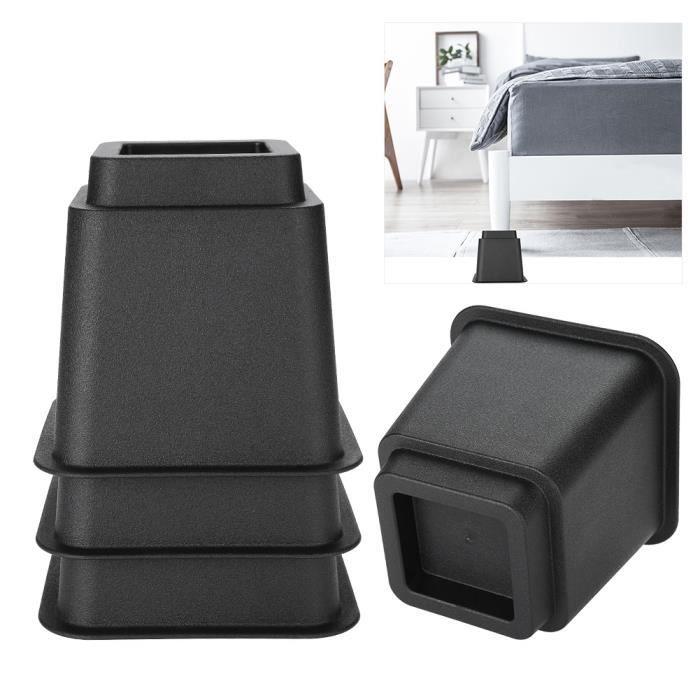 Nouvelle Arrivee HB037 4pcs Rehausseur Pieds de lit Réhausseur de meuble Lit - Table Set Rehausseur meuble ELEVATEUR 5- -non