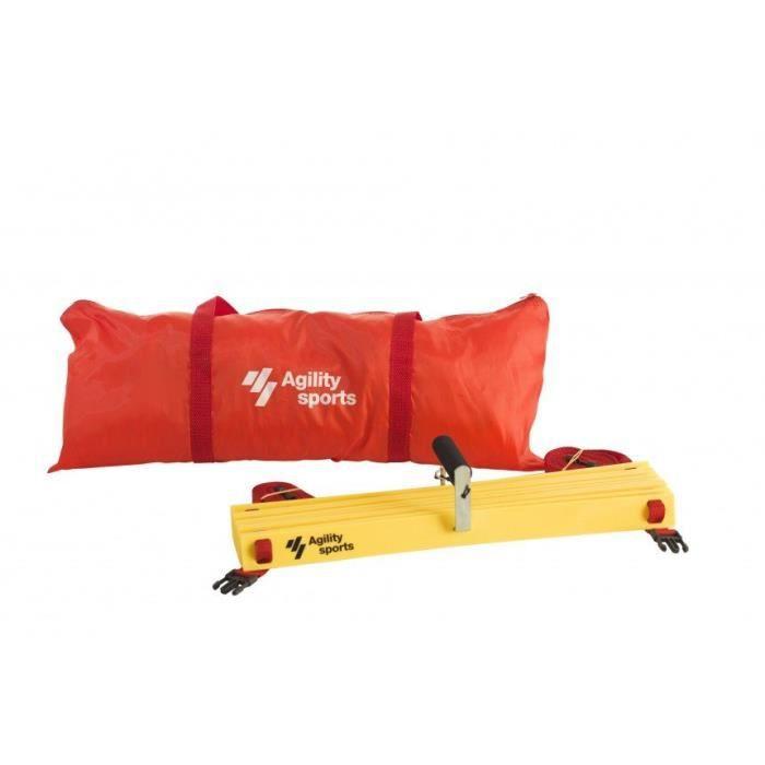 Agility Sports échelle d'entraînement réglable 400 cm jaune/rouge