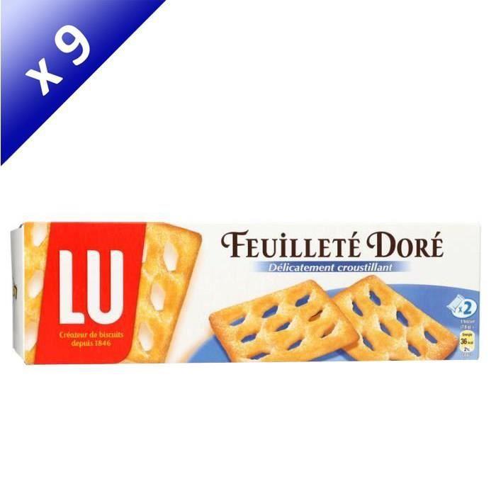 [LOT DE 9] LU Feuilleté doré - 125 g