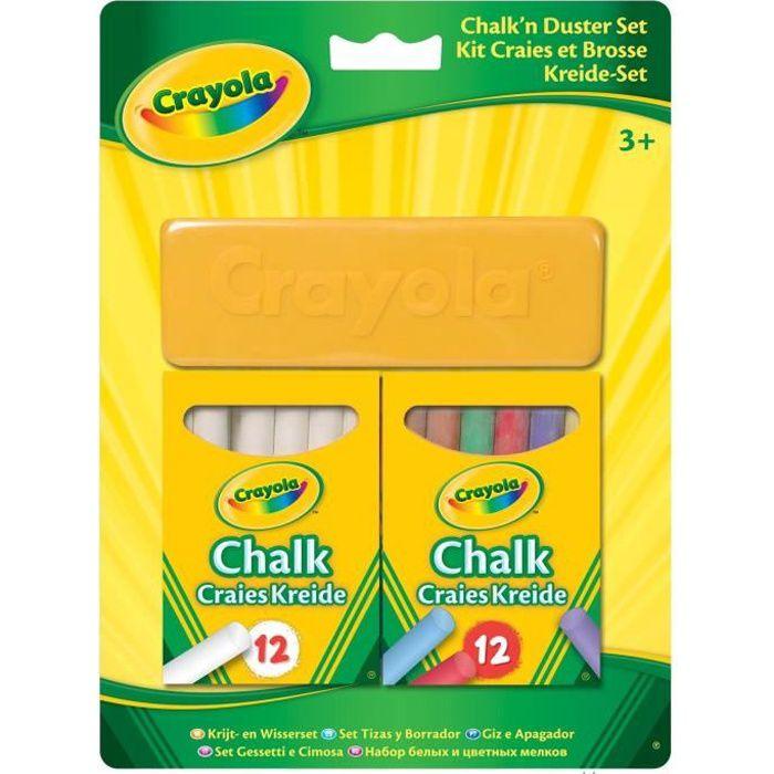 Crayola - Kit craies et brosse -