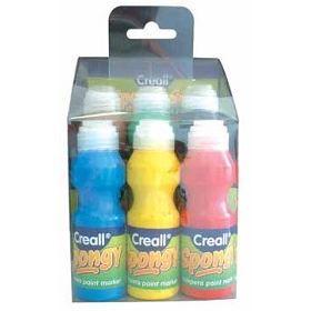 6 Peintures a l'éponge Creall Spongy