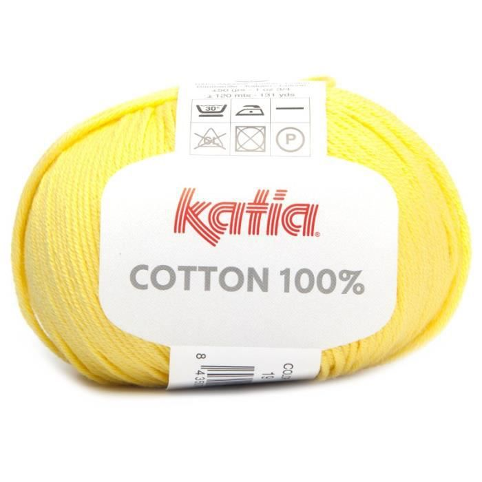 Coton COTTON 100% - Katia 19 Jaune