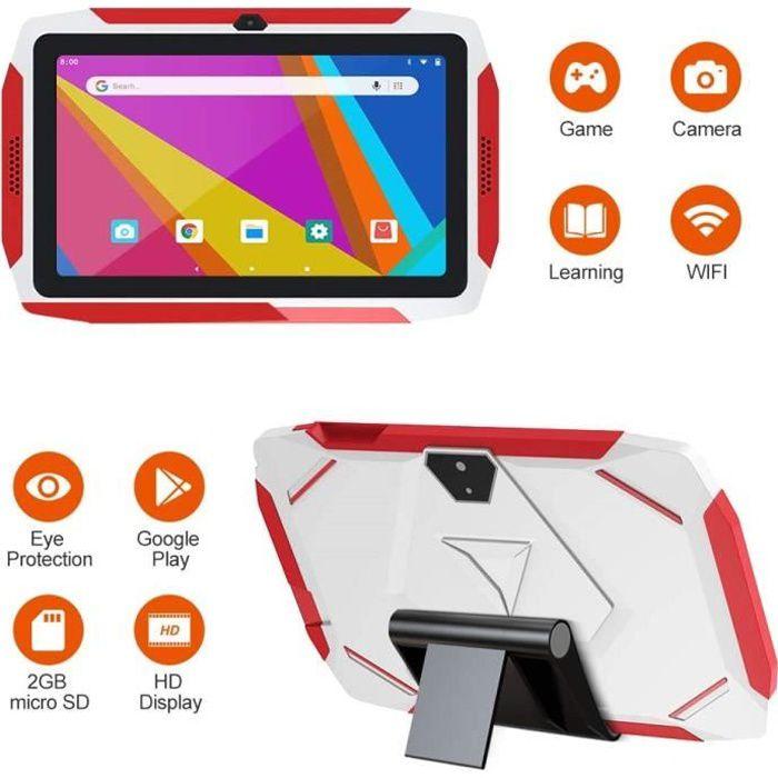 Tablette tactile enfant,16 Go Tablette Enfants, Tablette Éducative enfant 7- HD Android 9.0(Quad-Core 1.6Ghz, Wifi, BT4.0 )