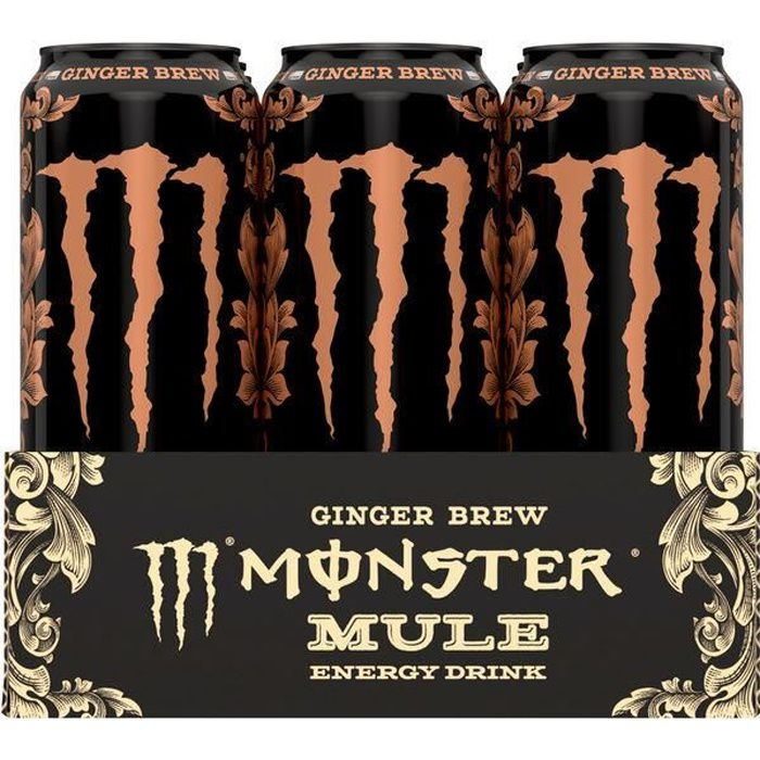Monster Mule Ginger Brew Energy Drink 0,5l (Pack de 12)