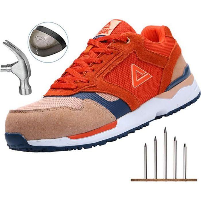 PEAK Chaussures de Sécurité Hommes Femme Safety Jogger Ultra Légère Chaussure de Travail Sécurité Basket Securite