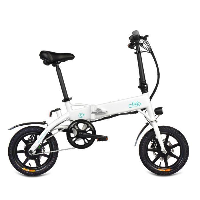 Vélo électrique Ebike pliant-FIIDO D1 Velo Assistance Electrique Cyclomoteur E-Scooter VTT adulte -250W-25km/h-vitesses LCD USB plia