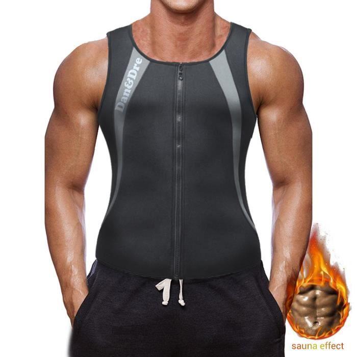 Dan&Dre® Débardeur Gilet vest de sudation Homme Combinaison Vêtement de sudation en Neoprene amincissant Body Shaper