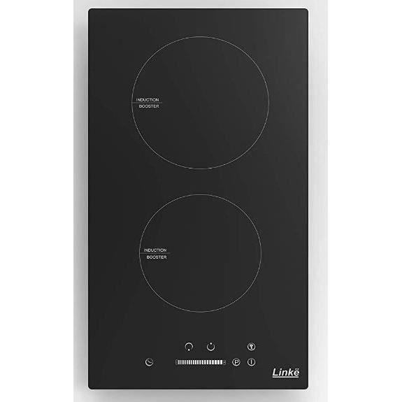 LINKË LKDIB - Domino de Cuisson/Table de cuisson 2 Foyers Inductions - Commandes par Touches Sensitives - Couleur Noir - 3500 Watts